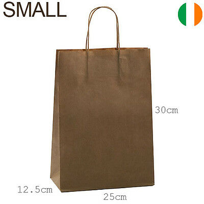 Brown kraft paper bags with twisted handles, kraft gift bags, loot party bags