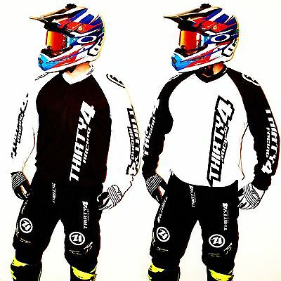 Thirty4 Racing White/Black Motocross MX Trials Enduro BMX Kit Gear Clothing