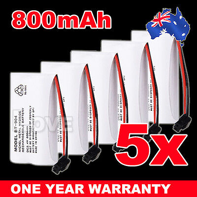 OZ J Cordless Phone Battery 5x For Uniden BT-904 BT-904S BT802 2.4V 800MAH Ni-MH