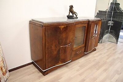**original France** antik 1930 Art Deco Sideboard BARFACH Walnussholz Frankreich