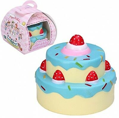 VLAMPO Squishy Stress Toys Squishies Soft Slow Rising 2 Layers Strawberry Cake