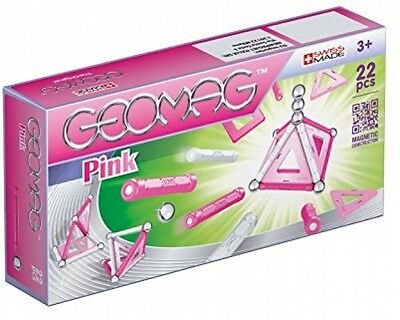 GEOMAG 340 Pink Magnetic Construction Set (22-Piece)