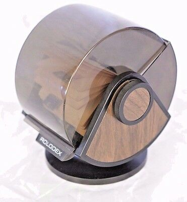 Vintage Rolodex SW 24C Faux Wood Large Round File Index Cards Swivel Rotary