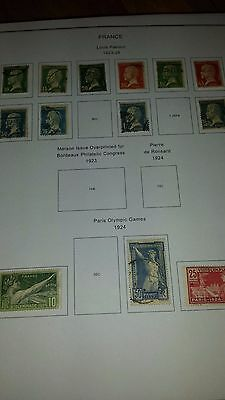 France stamps 1923-1926.  Nice