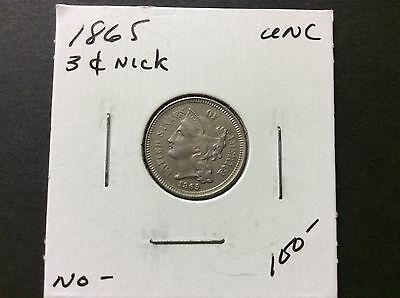 1865 3cents nicke