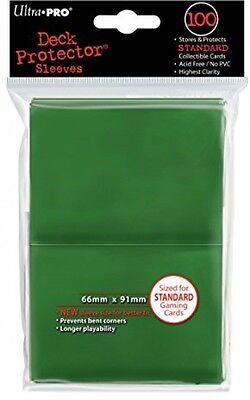 Ultra Pro SLEEVES Solid 100 Card Game (Green)