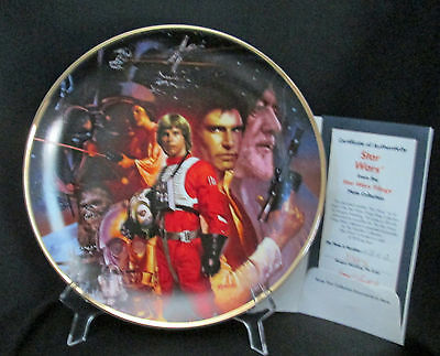 Hamilton Collection Star Wars Movie Trilogy plate #1 Boxed COA Morgan Weistling
