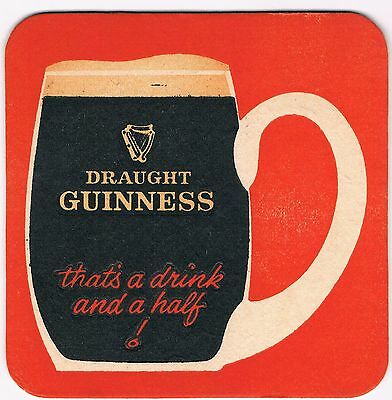 1 Bierdeckel Sous Bock Beermat Beer Mat Coaster Guinness Cat No 184