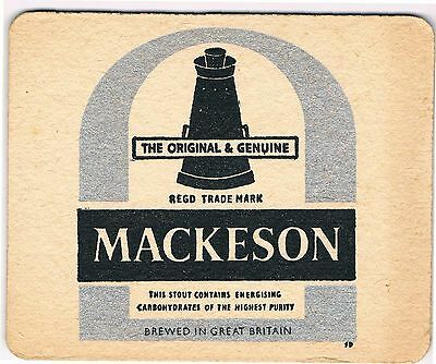 1 Bierdeckel Sous Bock Beermat Beer Mat Coaster Mackeson Cat No 220