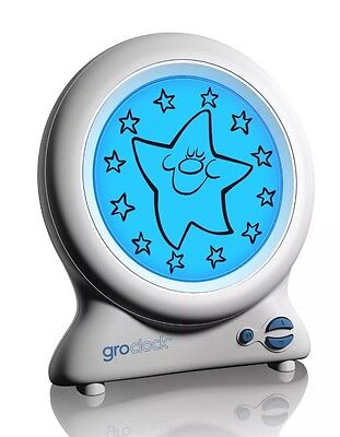 Gro-Clock Sleep Kids Time Trainer Day Night Light Bedtime Story Learn Clock New