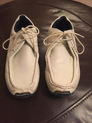 Men's Cream Leather Shoes By Josef Size 6 In VGC!