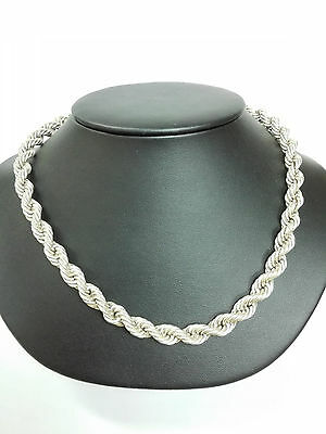SILVER 925  CHAIN TORSADE ITALY STERLING  30.41 grs
