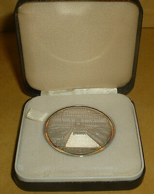 Hallmarked Silver Birmingham 1974 General Election Medallion In Box