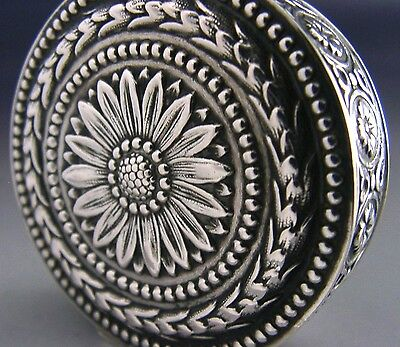 BEAUTIFUL FRENCH SOLID SILVER SNUFF / PILL BOX ANTIQUE c1900