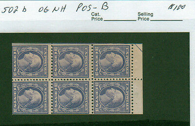 502b  booklet position B   OG  NH