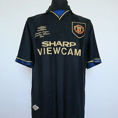 Manchester United Away Shirt Adult Large CANTONA #7 1993/1995 w/ Embroidery