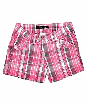 Wholesale Job Lot Gorgeous Pink & White Check Glitter Shorts x 5 Pairs