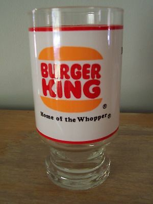 """Vintage 1970's Burger King """"where Kids Are King"""" Drinking Glass"""