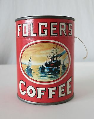 Folger's Coffee Vintage Promotional Puzzle Tin - Unopened