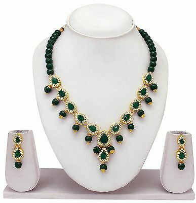 South Indian Golden traditional Necklace Jewelry set Auction Start From $ 5.99