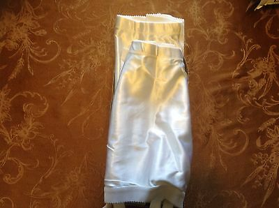 New in box 2 white Crown Crownette 424 open bottom girdle w/ garters sz 38
