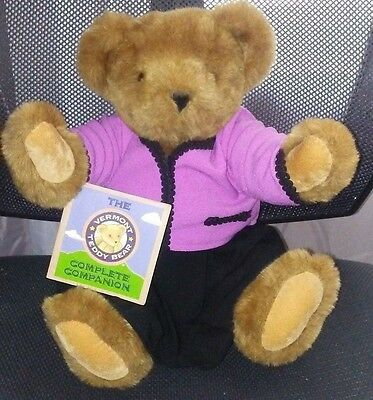 The Vermont Teddy Bear Company Honey Colored purple top black skirt w/ tag Joint