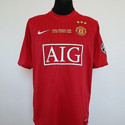 Manchester United 3 Star Commemorative Shirt Large 2008/2009 Limited Edition