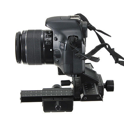 4-Way Macro Shot Focusing Focus Rail Slider 1/4 Screw For