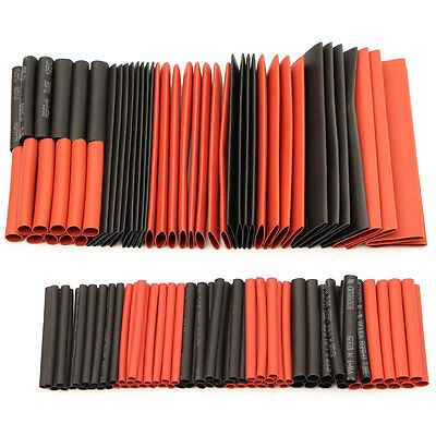 127Pcs Halogen-Free 2:1 Heat Shrink Tubing Wire Cable Sleeving