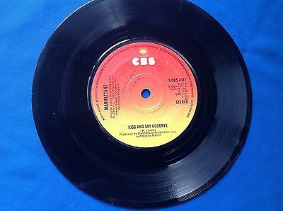 """7"""" 45Rpm Vinyl Record Manhattans """"Let's Just Kiss And Say Goodbye"""" 1976"""