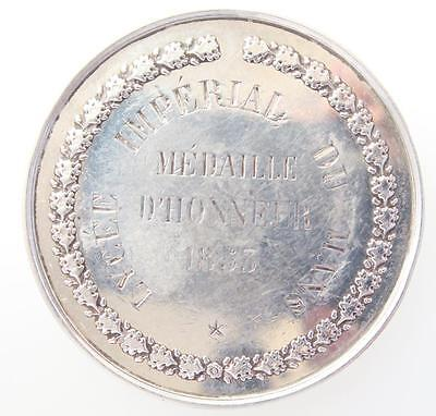 France Silver medal Lycee Imperial Le Mans 1853 medaille d'honneur Napoleon III