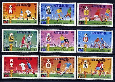 CAMBODIA Sc#346-54 1975 World Cup Soccer Championships 1974 MNH