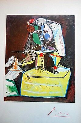 "Pablo Picasso ""the Maids Of Honor""- Firmada A Mano. Coa"