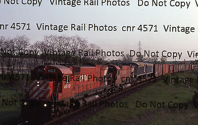 Original Kodachrome Slide CPR Canadian Pacific MLW M630 4512 Killean siding Galt