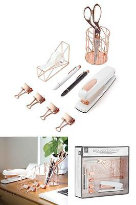 Office Supplied Desk Organizer with accessories complete 10 Pcs Kit Set New