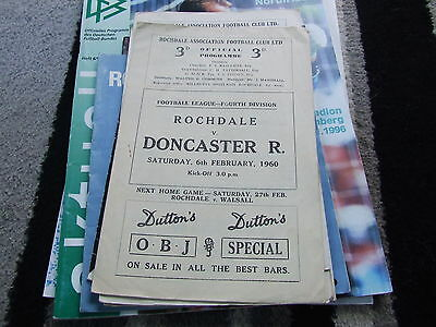 Rochdale V Doncaster Rovers 1959-60