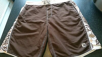 mens brown swim shorts / shorts from next size L
