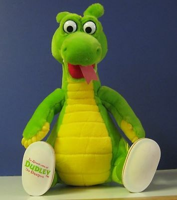 """Adventures of Dudley Dragon Plush Doll - 12"""" - 1994 - Dragon Tales Productions"""