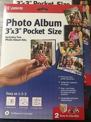 "Canon Create Your Own Photo Album 3"" x 3"" Pocket Size (Two Album Kits)"