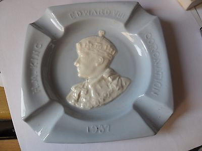 Edward Viii  Coronation  Dish 1937 Blue And White