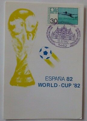 Spain 1982 Football Soccer Espana 82 FIFA World Cup Postcard & Stamps.