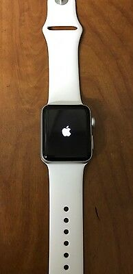 New Apple Watch Series 2 38mm Silver Aluminum White Sport Band - No Accessories