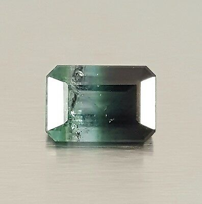 WaterfallGems Tri coloured Tourmaline, Emerald Cut 9x6x4.8mm, 2.81ct