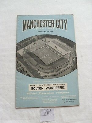 Manchester City V Bolton Wanderers, 15th april 1960