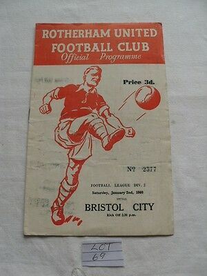 Rotherham V Bristol City 2/1/1960 League Div 2
