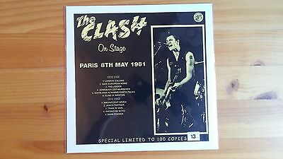 "The Clash. Mega-Rare Lp ""on Stage"" (Paris' 81) 100 Only!!!"