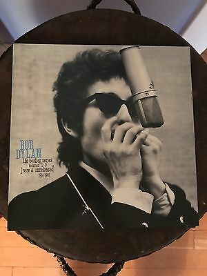 """RARE Bob DYLan Bootleg Series DoublE SideD PRomO POster FLAt 12""""x12"""""""
