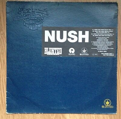 "NUSH - Move That Body Promo 12"" Blunted Vinyl Rare Acid House Dave Angel DJ"