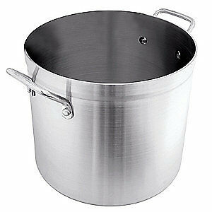 CRESTWARE Stock Pot,100 qt,Aluminum, POT100
