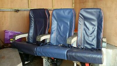 Vintage Russian Aeroflot seats with full seat belts & back tables